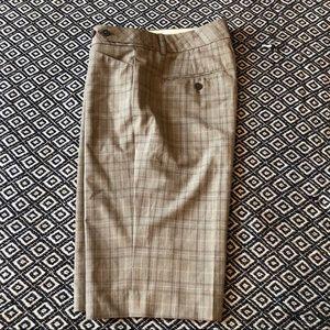 Express Editor windowpane plaid dress shorts - 4